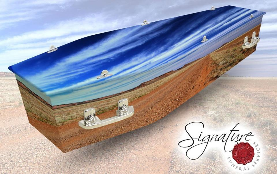 outback lifestyle personalised coffin wrap